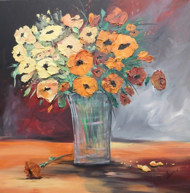 """""""Orange Blossom Special!"""" original fine art by Terri Einer"""