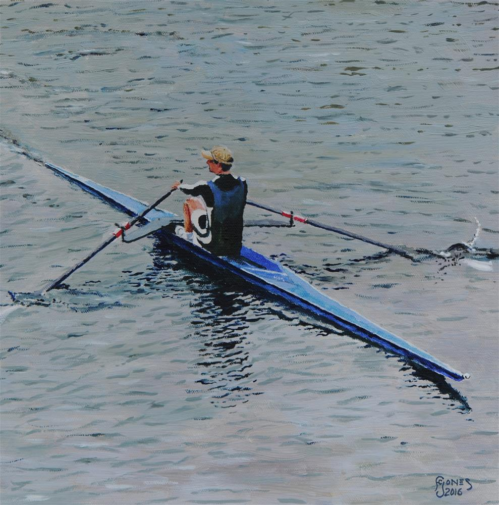 """Single Scull"" original fine art by Fred Jones"