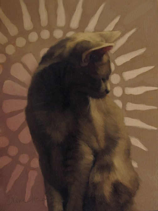 """""""Sun and Cat, + adventures in animated cat gifs"""" original fine art by Diane Hoeptner"""