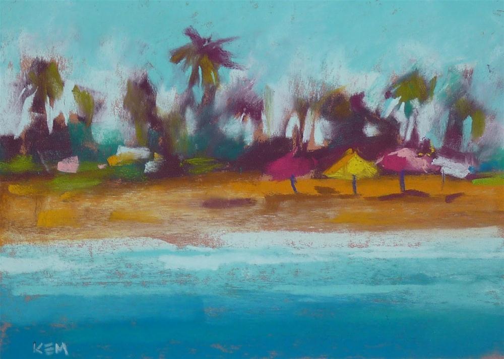"""Pastel Review...Mount Vision Tropical Set"" original fine art by Karen Margulis"