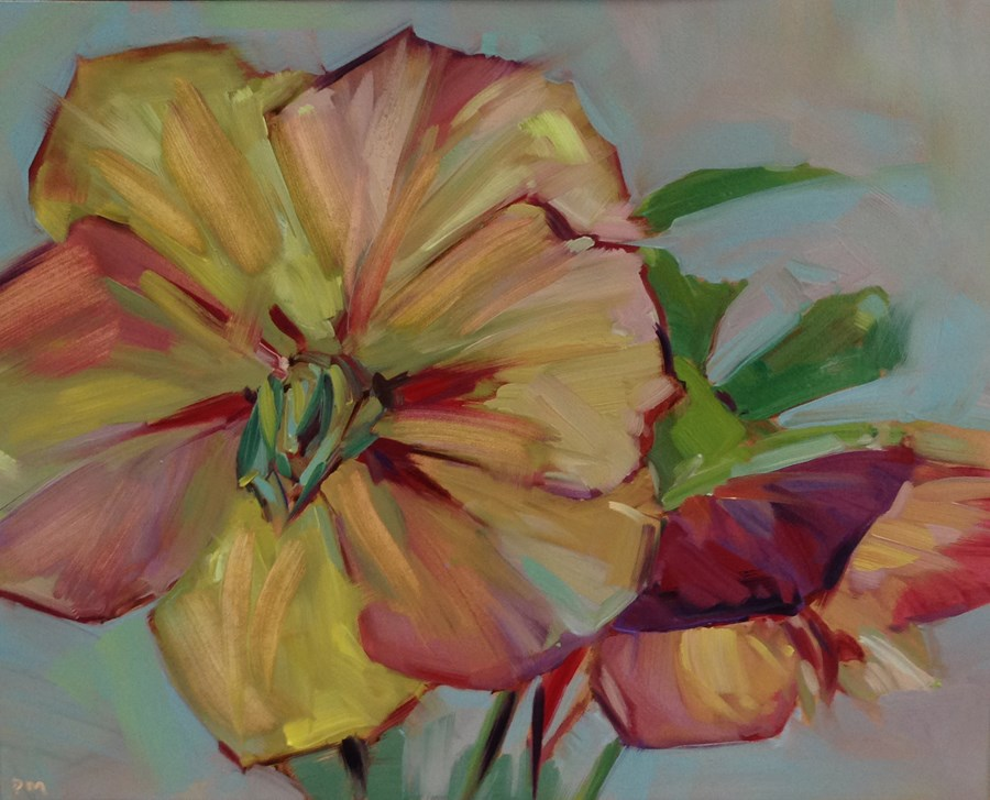 """""""H is for Hellebores"""" original fine art by Patti McNutt"""