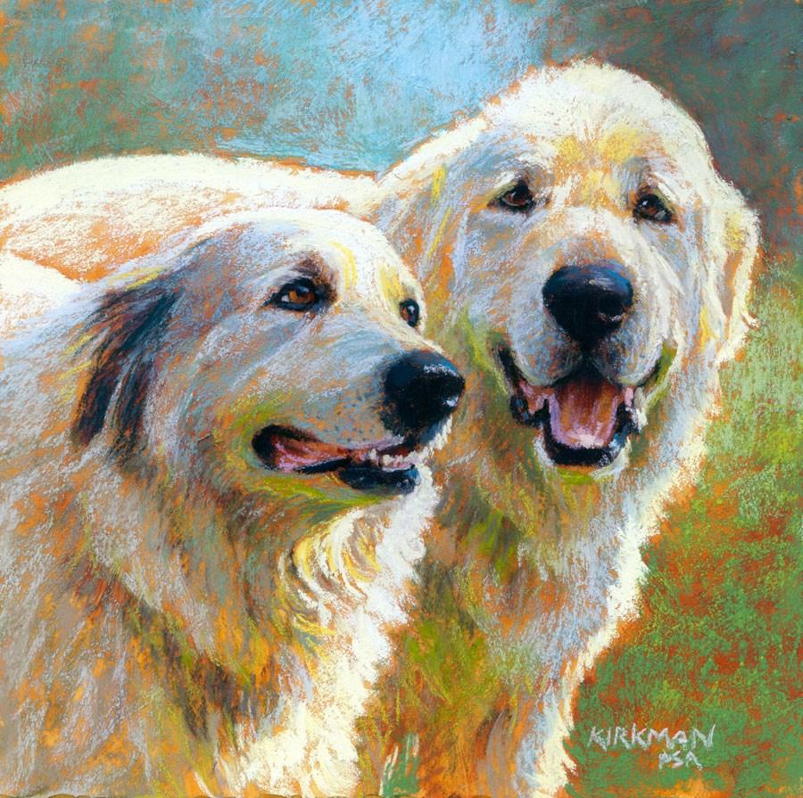 """Jodie and Bogie"" original fine art by Rita Kirkman"