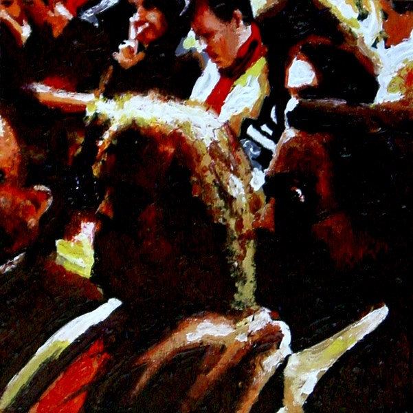 """""""Inside The Theater 2- People Enjoying A Performance In Theater"""" original fine art by Gerard Boersma"""