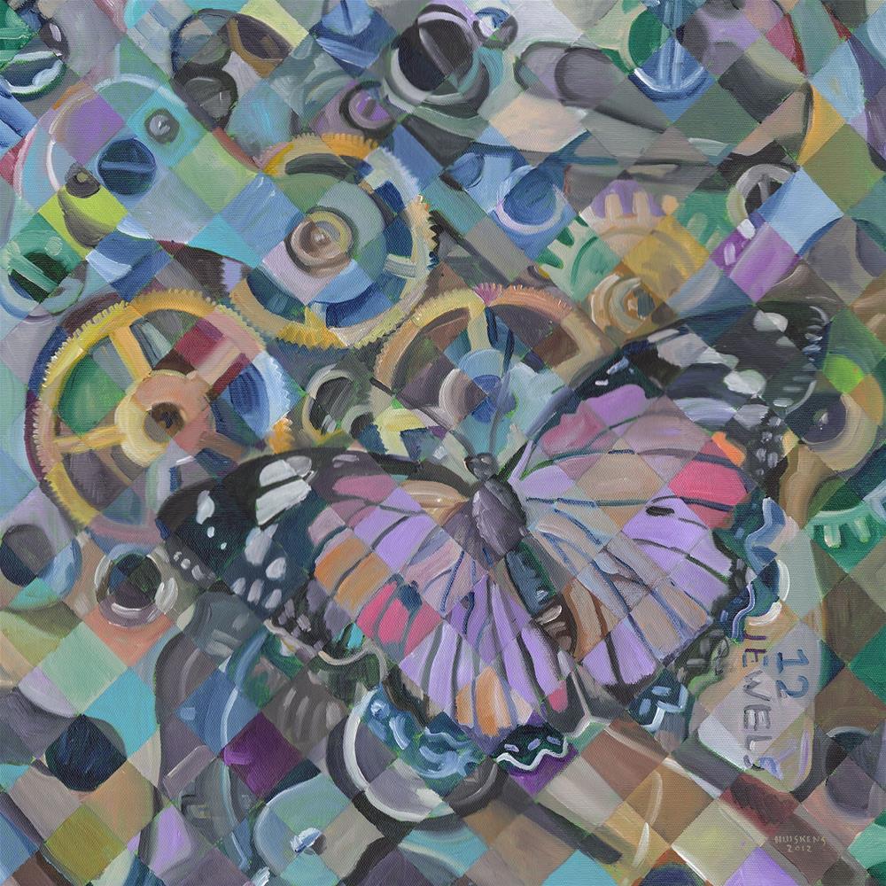 """""""Clockwork Butterfly No. 13"""" original fine art by Randal Huiskens"""