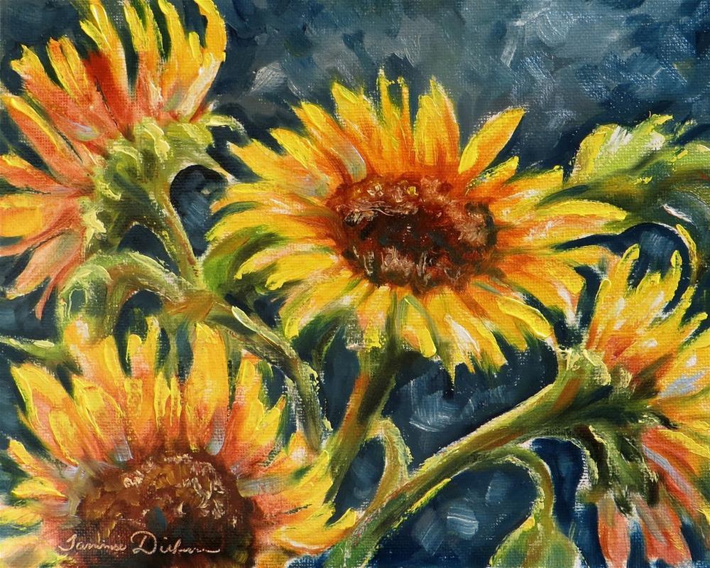 """""""Sunflower Sonata"""" original fine art by Tammie Dickerson"""