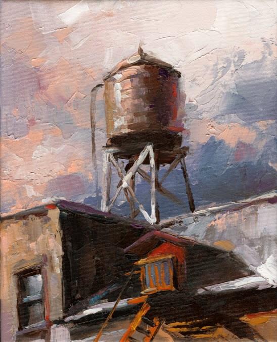 """""""NYC"""" original fine art by Victor Bauer"""