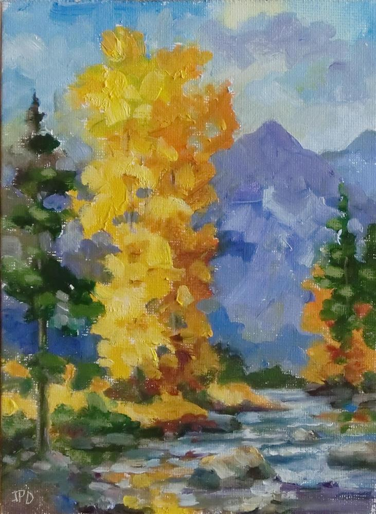 """Grand Tetons stream in the Fall"" original fine art by Jean Pierre DeBernay"