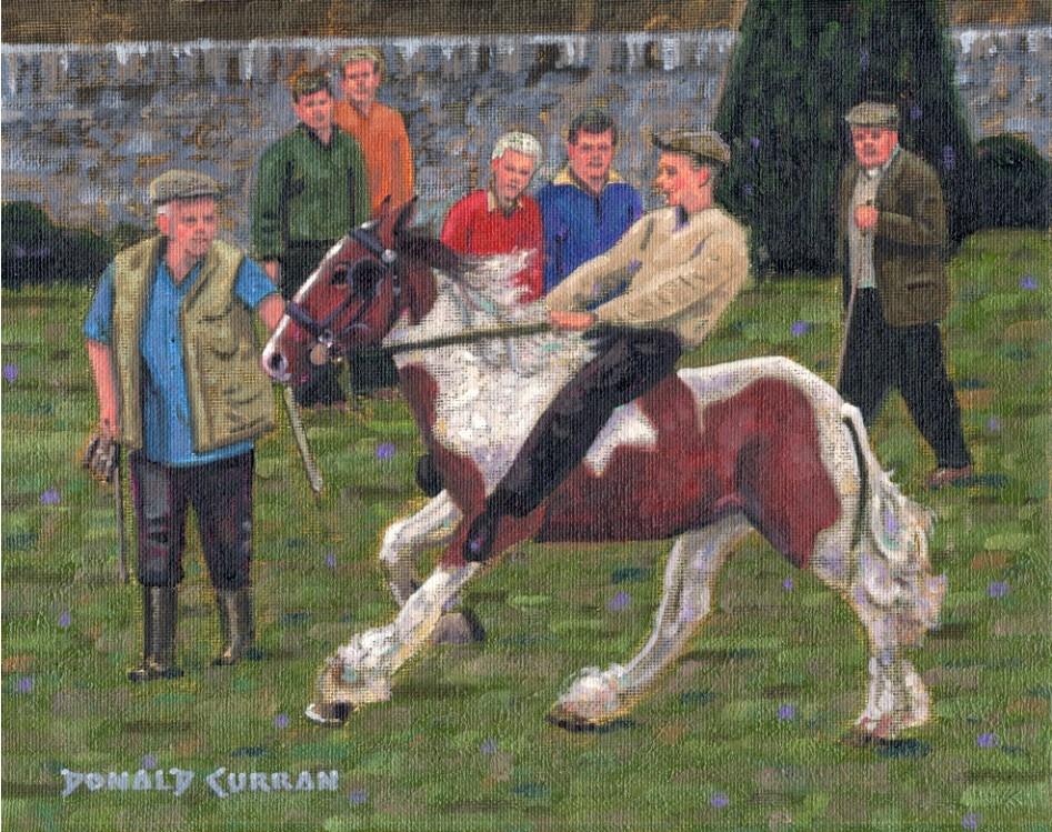 """Irish Horse Fair"" original fine art by Donald Curran"