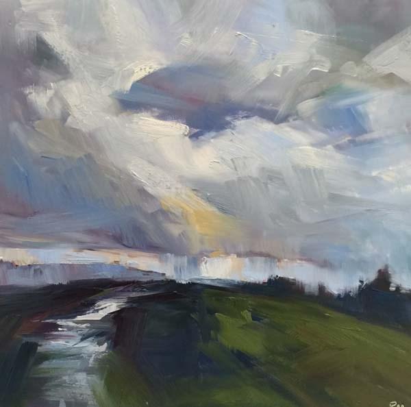 """Kaleidoscope Cloud"" original fine art by Patti McNutt"
