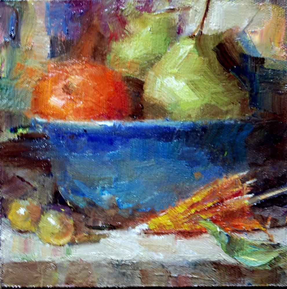 """""""Fruit Bowl"""" original fine art by Julie Ford Oliver"""