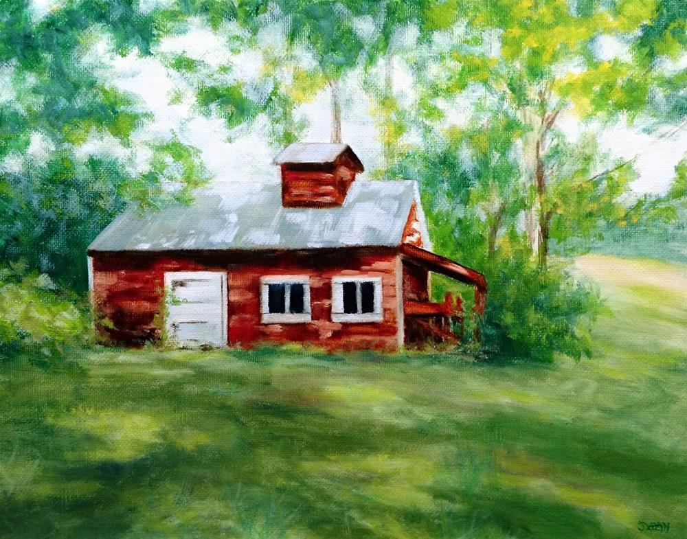 """Vermont Maple Sugar Shack"" original fine art by Dalan Wells"