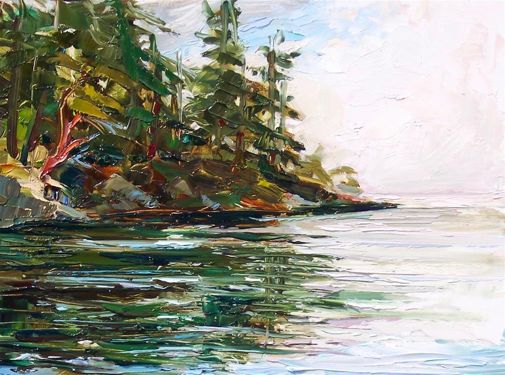 """""""Larrabee Boat Launch,landscape,oil on panel,9x12,price$400"""" original fine art by Joy Olney"""