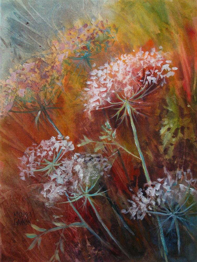 """Queen Anne's Lace"" original fine art by Melissa Gannon"