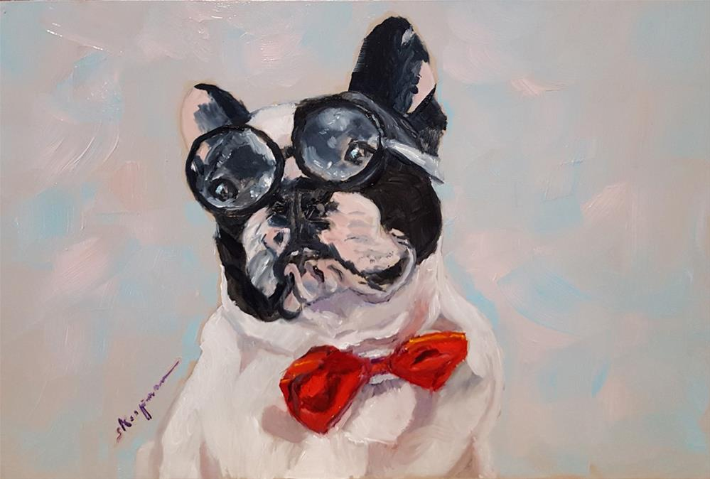 """Dapper Sherman"" original fine art by Shelley Koopmann"