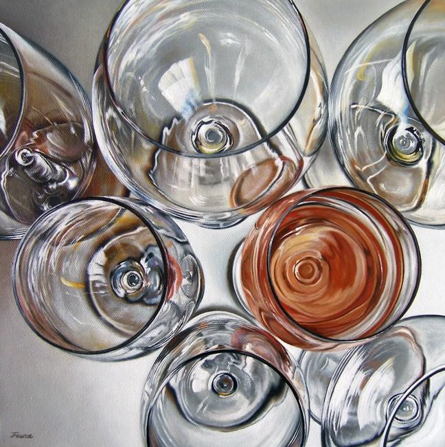 """Tasting I"" original fine art by Jelaine Faunce"
