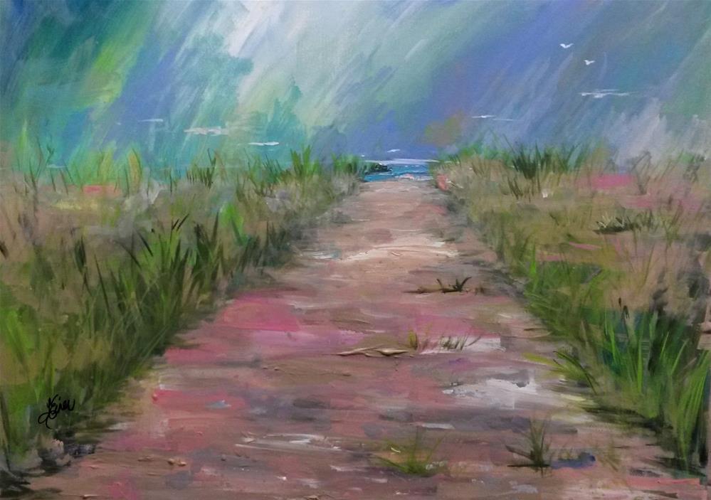 """""""Beach Path"""" original fine art by Terri Einer"""