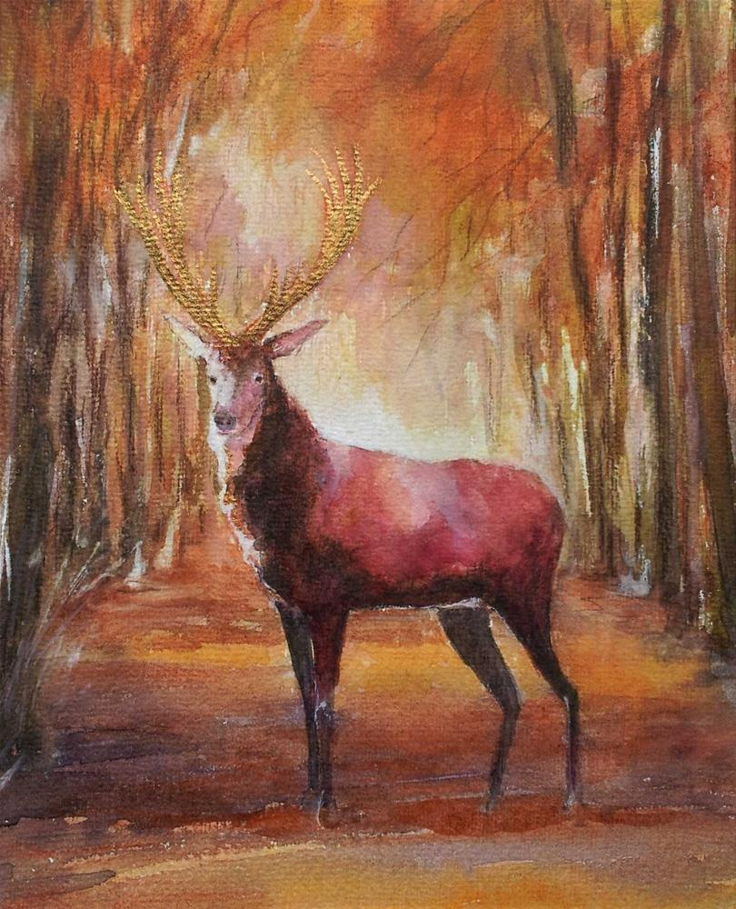 """""""He is the king"""" original fine art by Olga Touboltseva-Lefort"""