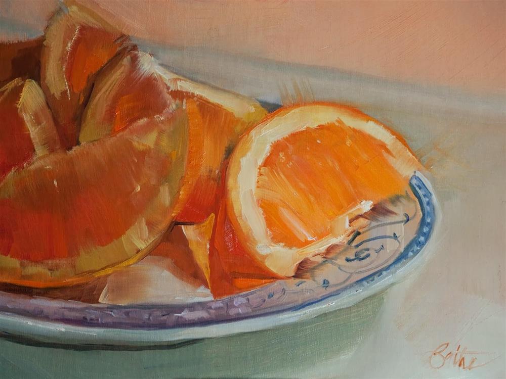 """""""Oranges For You by Beth Bathe"""" original fine art by Beth Bathe"""