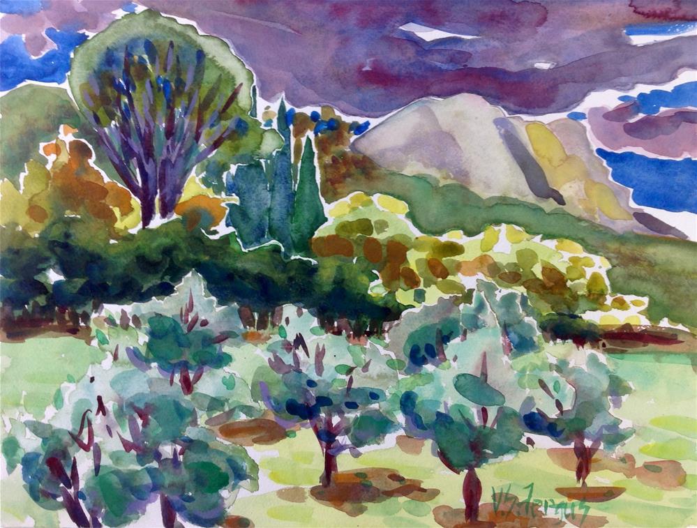 """In the Steps of Cezanne"" original fine art by Virginia Fergus"