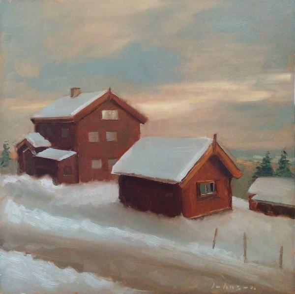 """Sunset at Frognerseteren"" original fine art by Dan Johnson"