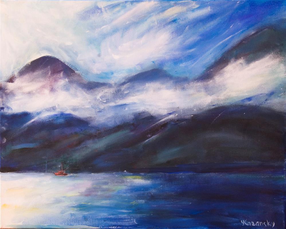 """Wispy Clouds, Alaska"" original fine art by Yulia Kazansky"