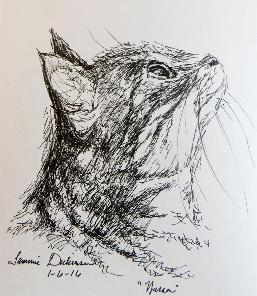 """""""Wesson in Ink"""" original fine art by Tammie Dickerson"""