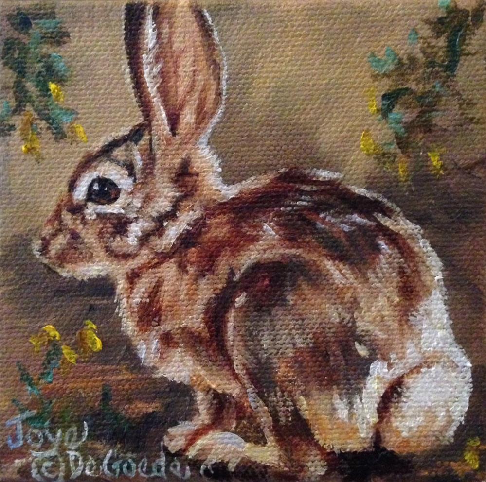 """""""Lil Bunny Tail (c) by Joye DeGoede"""" original fine art by Joye DeGoede"""
