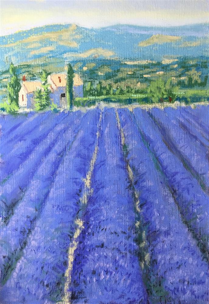 """Lavender field"" original fine art by Natasha Ramras"