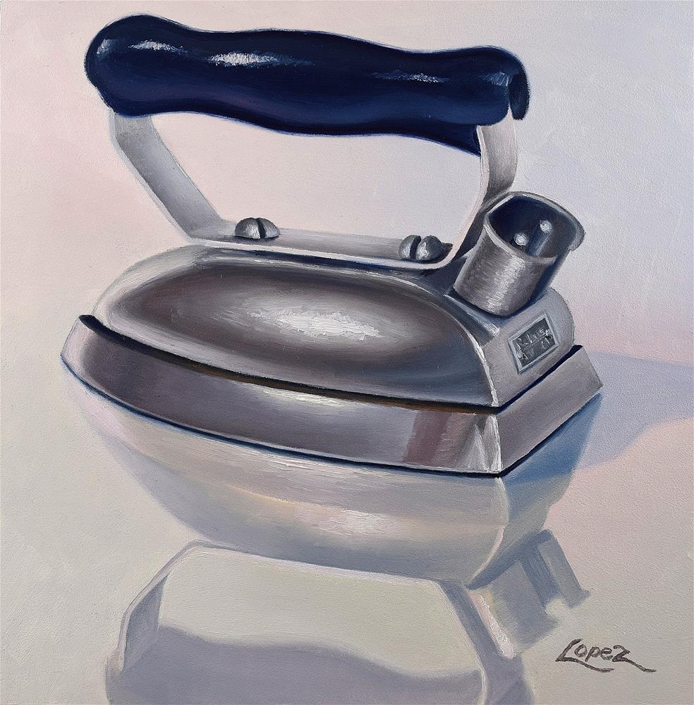 """14. Petite Iron"" original fine art by Gema Lopez"