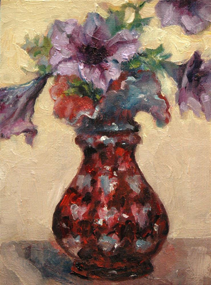 """Floral with Hearts"" original fine art by Rachel K Schlueter"