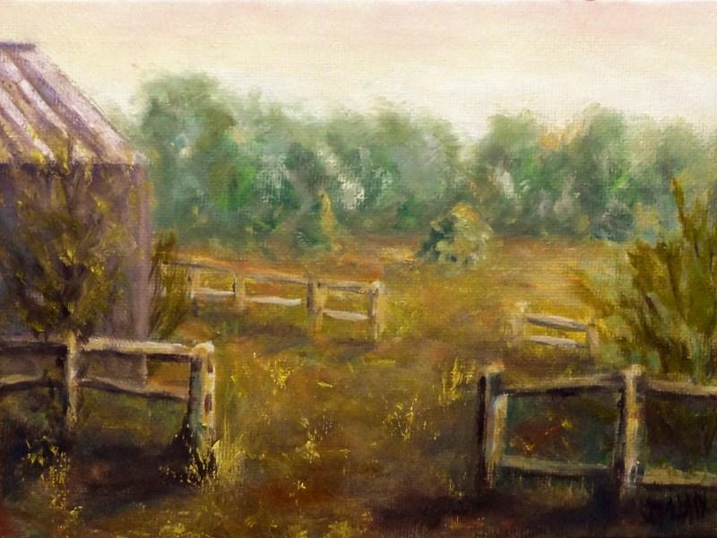 """Dad's Farm"" original fine art by Dalan Wells"