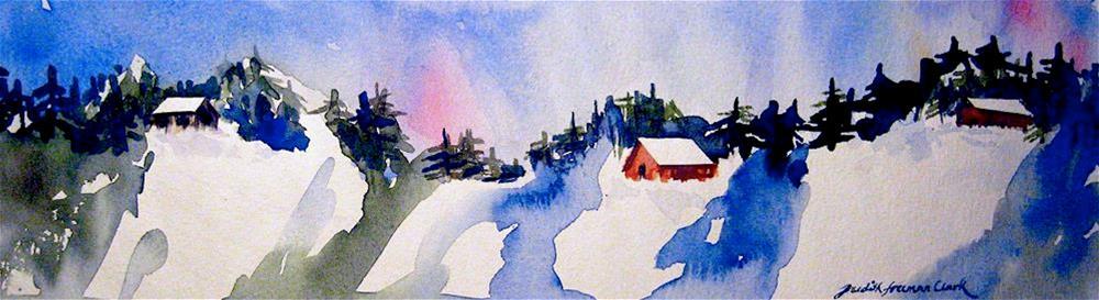 """Winter Vacation"" original fine art by Judith Freeman Clark"