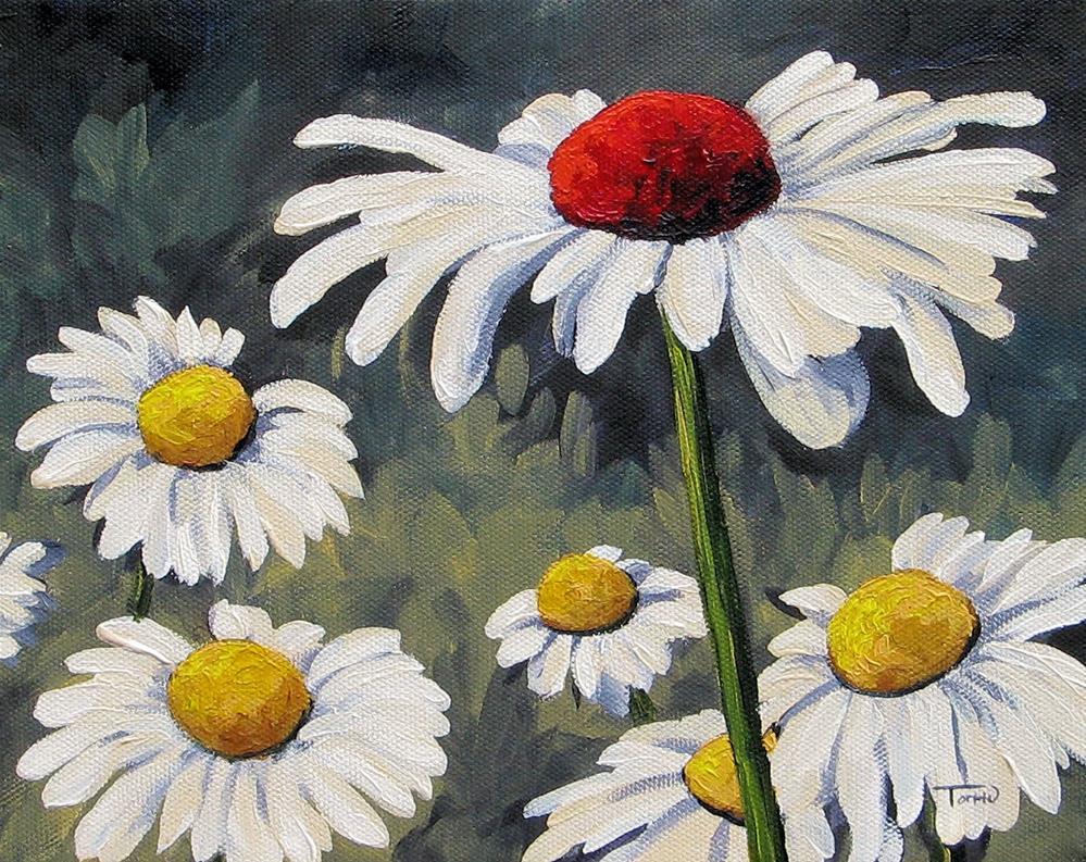 """Dee's Red Daisy"" original fine art by Torrie Smiley"