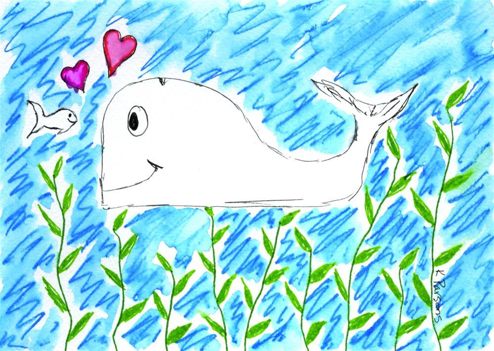 """Fishy Love"" original fine art by Kali Parsons"