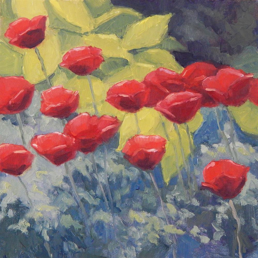 """Poppies"" original fine art by Lisa Kyle"