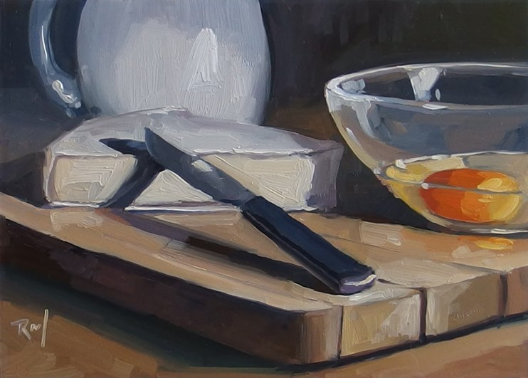 """No 826 Ready For Breakfast"" original fine art by Robin J Mitchell"
