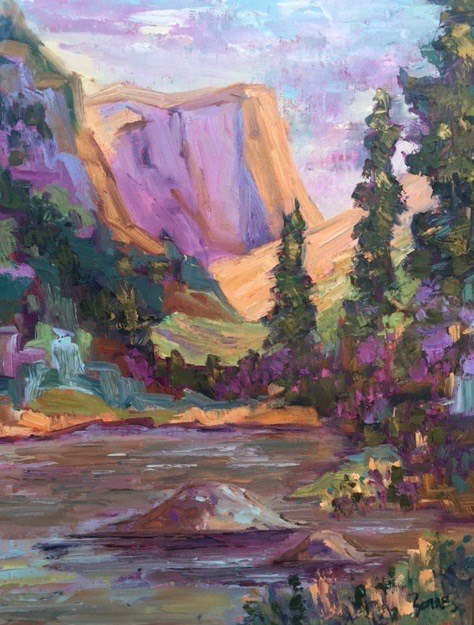 """Hallett View, Rocky Mountain National Park"" original fine art by Liz Zornes"