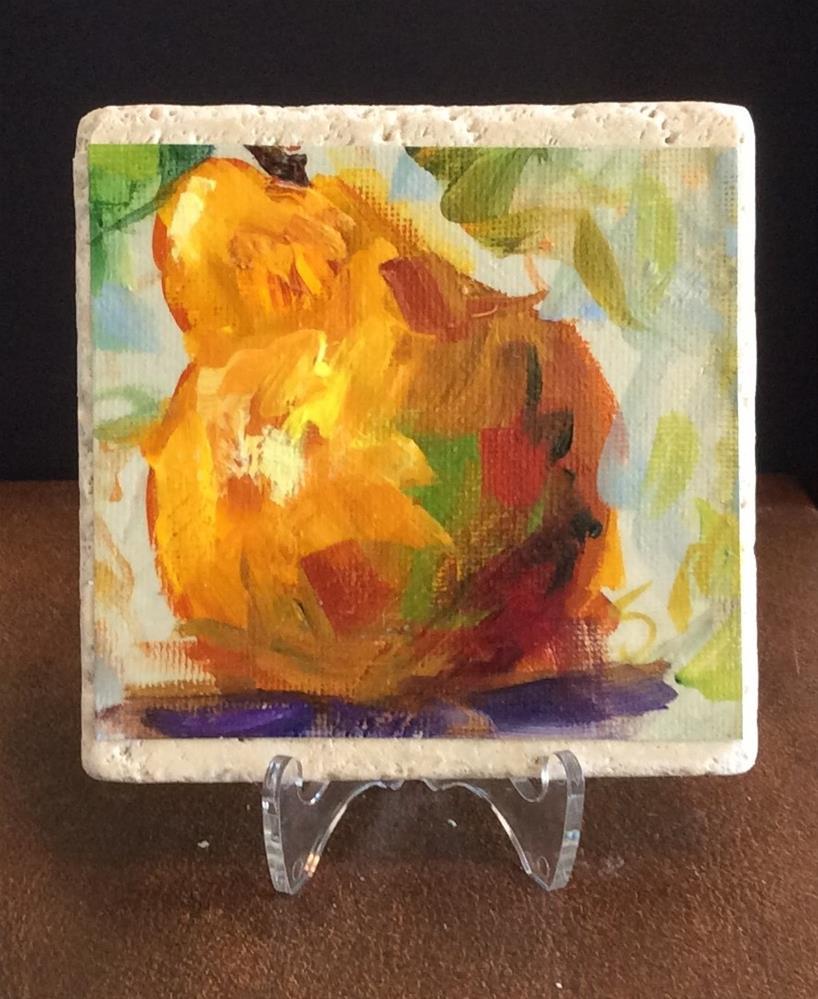 """""""Pear"""" original fine art by Susie Monzingo"""