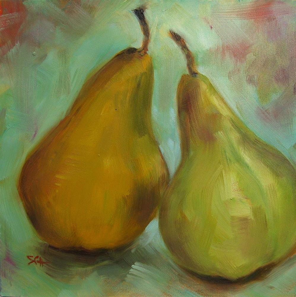 """Return to the humble pear"" original fine art by Sandy Haynes"