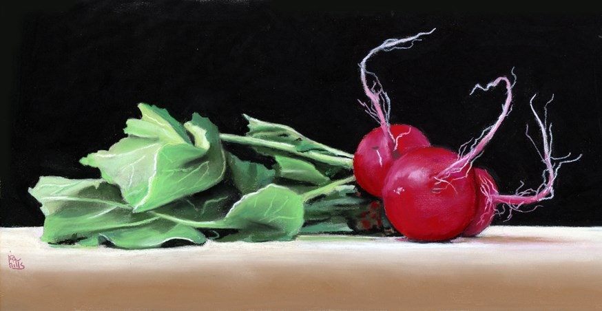 """Radish Roots painting"" original fine art by Ria Hills"