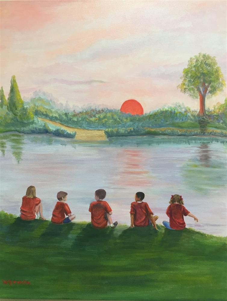 """School Picnic"" original fine art by Barbara Whitmire"
