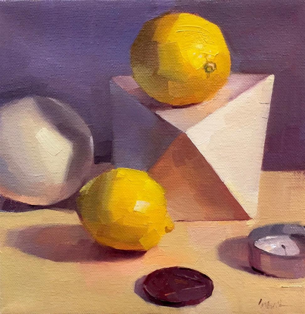 """Lemons on Purple"" original fine art by Sarah Sedwick"
