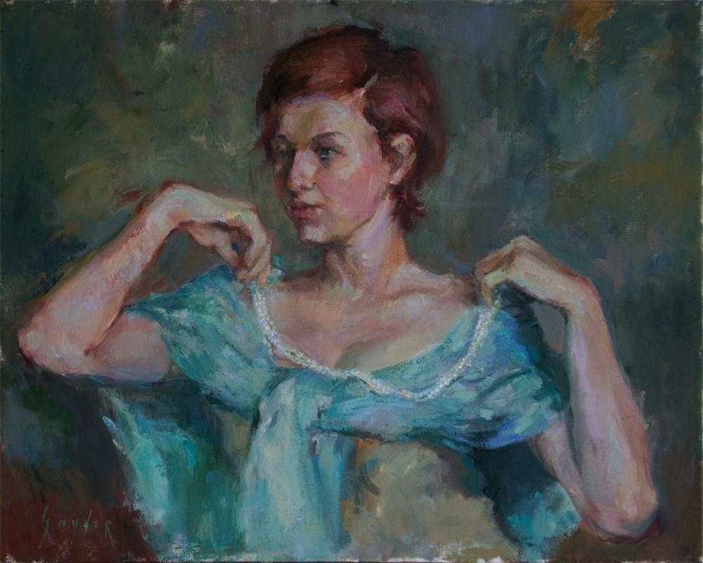 """""""String of Pearls"""" original fine art by Julie Snyder"""