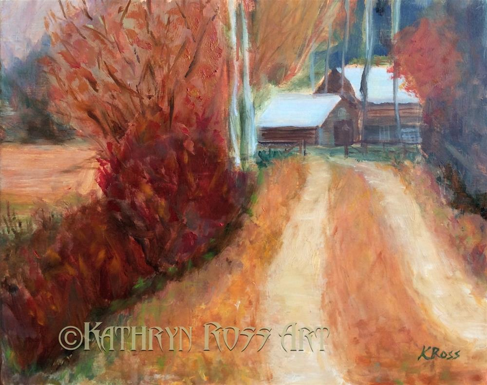 """Country Lane"" original fine art by Kathryn Ross"