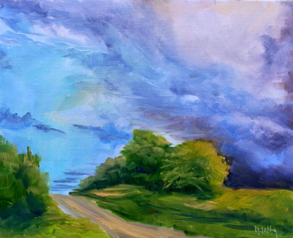 """Lake Erie Storm"" original fine art by Maggie Flatley"