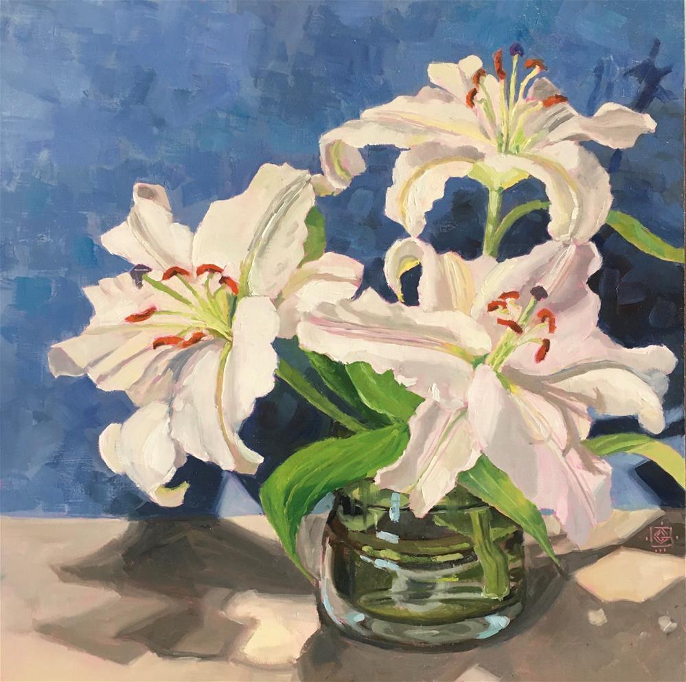 """Spring Lillies"" original fine art by Carol Granger"