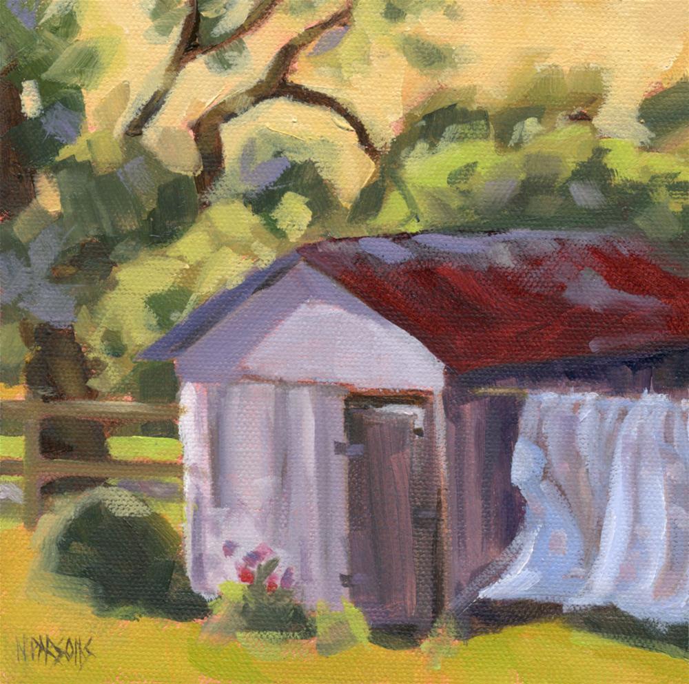 """Shedding Light"" original fine art by Nancy Parsons"