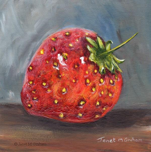 """Strawberry"" original fine art by Janet Graham"