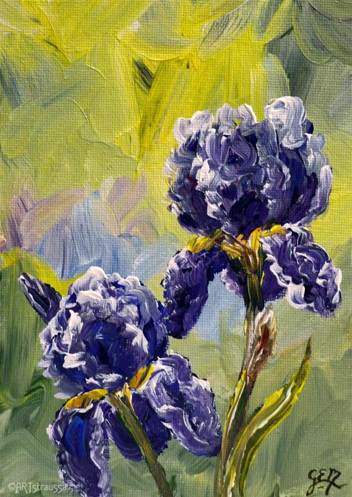 """SALE!!! Violet Beauties"" original fine art by Gloria Ester"