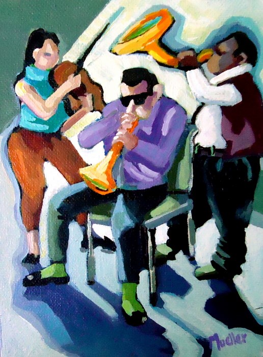 """#1 Let's Slow it Down"" original fine art by Laurie Mueller"